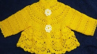 getlinkyoutube.com-Платье крючком для малышки.Šaty dětské háčkování/Robe -veste au crochet pour bébé.Baby dress crochet