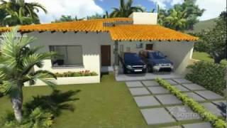 getlinkyoutube.com-Plantas de casas - Térrea com 3 quartos e varanda gourmet - Cód. 104  - Soprojetos.com.br