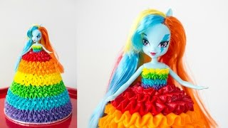 getlinkyoutube.com-'Rainbow Dash' My Little Pony Doll Cake - CAKE STYLE