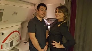 Air France B777-300/ER NEW BUSINESS CLASS Flight Paris to Dubai