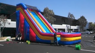 getlinkyoutube.com-How-to Roll Up Inflatable Water Slide by American Inflatable Water Slide Manufacturer