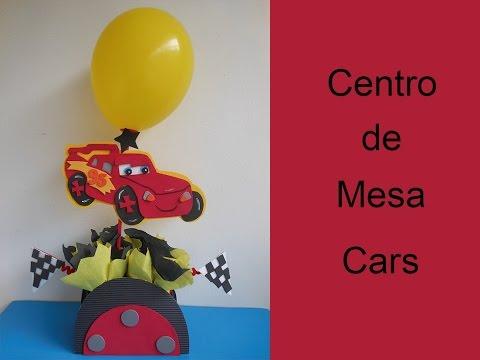 Centro de mesa Cars (Centerpiece cars)