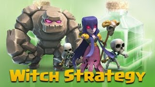 getlinkyoutube.com-TH9 Witch Strategy | Insane Attack: 4 Golems + 6 Witches + 4 Jumps | Clash Of Clans