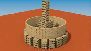 getlinkyoutube.com-Colloseum like Building of 2100 KEVA planks destruction simulation