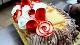 getlinkyoutube.com-How to make flower cake - Cake making tutorial