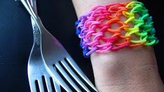 getlinkyoutube.com-Как сделать браслет из резинок №27. Чешуя Дракона. Rainbow loom bracelet. Dragon scale.