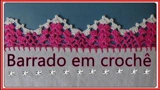 getlinkyoutube.com-Barrado em crochê para pano de prato  passo a passo - you tube