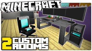 getlinkyoutube.com-This Minecraft Gaming Room Will Make You DROOL | 2 CRAZY Minecraft Builds (Custom Map)
