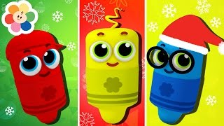 getlinkyoutube.com-Learn Colors With Color Crew Christmas Special | Finger Family Nursery Rhymes | BabyFirst TV