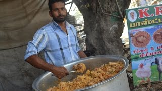 getlinkyoutube.com-Indian Muslim CHICKEN BIRYANI Prepared for 100 People & STREET FOOD