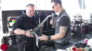 getlinkyoutube.com-Backstage w BULLET's Matt Tuck : Close-Up of his USA Handmade BC RICH Axes!