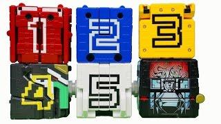 getlinkyoutube.com-동물전대 쥬오우쟈 파워레인저 애니멀포스 큐브 1호 - 5호 DX쥬오킹 애니멀킹 합체 장난감 Power rangers super sentai toys