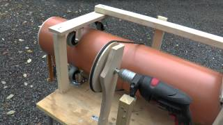 getlinkyoutube.com-World's 1st Rifled Slingshot (Made from Huge PVC Sewage Pipe)