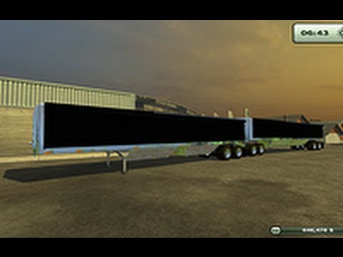 Dukes' tempte B trailor and W900 Kenworth Semi Cab mod For Farming Simulator 2013