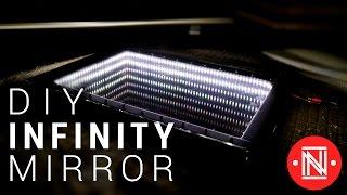getlinkyoutube.com-Make a Beautiful LED Infinity Mirror    #DIY #Infinitymirror
