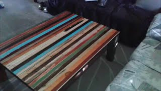 """getlinkyoutube.com-How To Make Faux """"Reclaimed Lumber"""" Furniture by Mark Prior"""