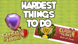 getlinkyoutube.com-TOP 10 HARDEST THINGS TO DO IN CLASH OF CLANS