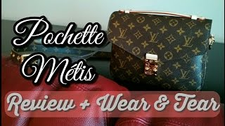 getlinkyoutube.com-Louis Vuitton Pochette Metis Review & Wear and Tear | FashionablyAmy