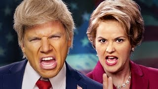 getlinkyoutube.com-Donald Trump vs Hillary Clinton.  Epic Rap Battles of History.