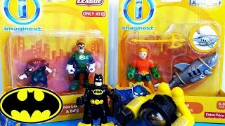 getlinkyoutube.com-Imaginext D.C Super Freinds Batman Sub, Green Lantern and Bd'g, AquaMan and Robo Shark