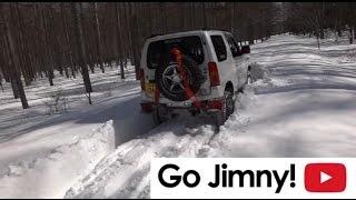 getlinkyoutube.com-Go Jimny! ジムニー 雪の林道 蓼科高原スノーアタック