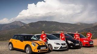 getlinkyoutube.com-Comparativa Audi S1, SEAT Ibiza Cupra, MINI Cooper S y Peugeot 208 GTI - ActualidadMotor