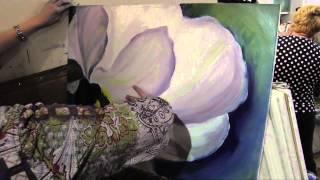 getlinkyoutube.com-Научиться рисовать большой цветок, живопись для начинающих, художник Игорь Сахаров