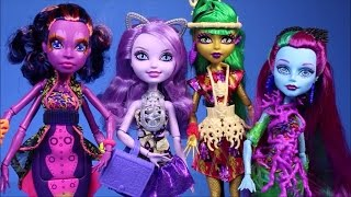 getlinkyoutube.com-New Monster High Dolls Collection 2015 Great Scarrier Reef Ever After High Dolls Unboxing Review