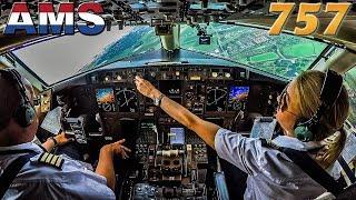 Laufey Pilots BOEING 757 into Amsterdam