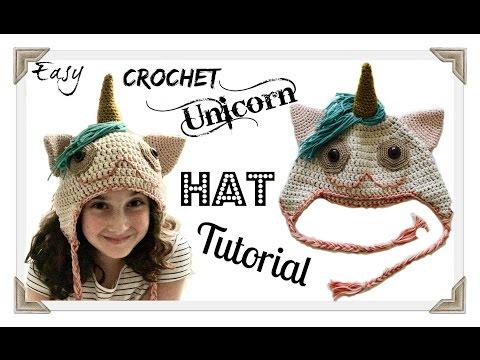 Easy Crochet unicorn hat tutorial