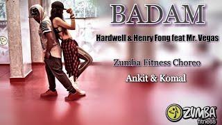 BADAM BADAM | (cover song ) Hardwell & Henry fong | feat Mr. Vegas | Zumba fitness choreo | width=