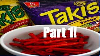 getlinkyoutube.com-Trying 5 flavors of Takis: Takis Taste Test Part 1