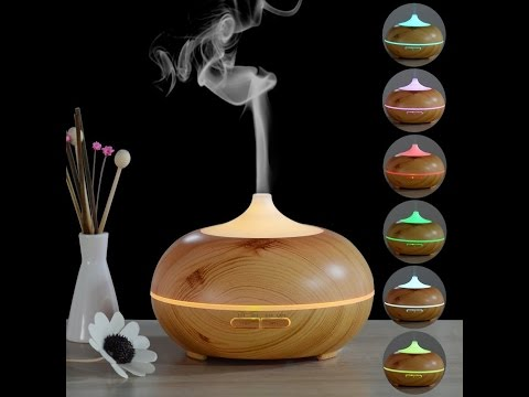 InnoGear® 300ml Aromatherapy Essential Oil Diffuser Wood Grain - REVIEW