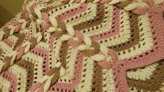getlinkyoutube.com-Cobija Manta tres Colores Crochet