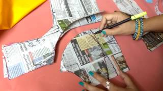 getlinkyoutube.com-Double katori blouse marking and cutting