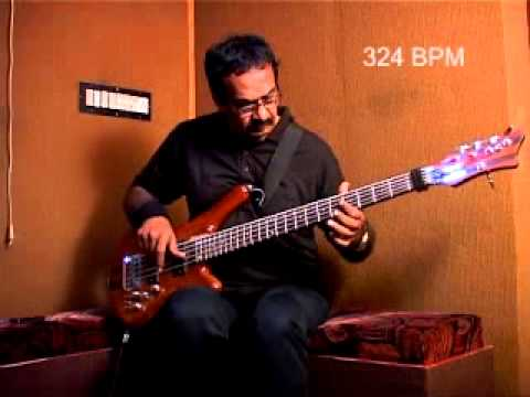 World's Fastest Bass Guitar Player 2012 - OFFICIAL WORLD RECORD SPEED - Jayen Varma - Bassist Indian