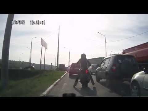 ДТП с Мотоциклистом в Калуге