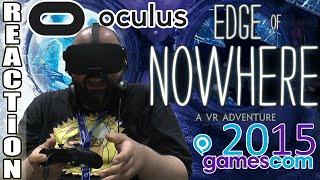 getlinkyoutube.com-OCULUS RIFT Reaction!!! / Edge of Nowhere VR (Gamescom 2015)