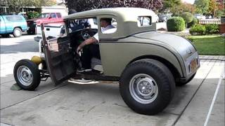 getlinkyoutube.com-1930 ford model a coupe w/327 first start-up