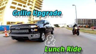 getlinkyoutube.com-Silverado Grille Upgrade & Lunch Ride