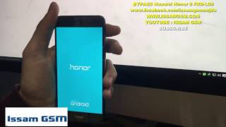 getlinkyoutube.com-BYPASS GOOGLE Account HUAWEI Honor 8, Mate 8, P8, P9, Lite | Remove FRP ISSAMGSM