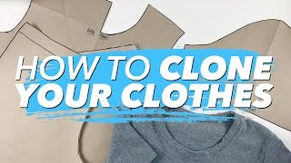 getlinkyoutube.com-How to Make Patterns from Your Clothes (CLONE YOUR WARDROBE) | WITHWENDY