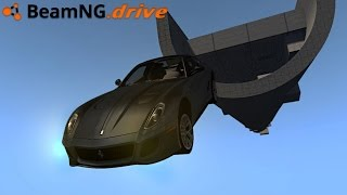 getlinkyoutube.com-BeamNG.drive - FLYING FERRARI