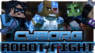 getlinkyoutube.com-Teen Titans: Cyborg Robot Fight! (Minecraft Roleplay)