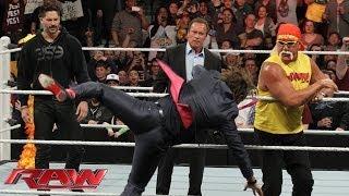 getlinkyoutube.com-Arnold Schwarzenegger and Joe Manganiello join Hulk Hogan in the ring: Raw, March 24, 2014