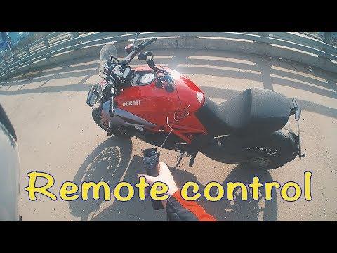 Пульт управления для мотоцикла. Опыты с камерой OSMO. Крепление камеры на мото. Music in Your Helmet