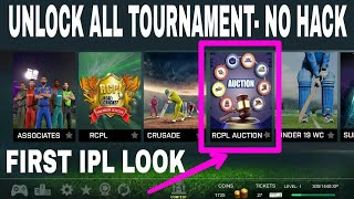 🔥Real cricket 18 IPL AUCTION FIRST LOOK , UNLOCK ALL TOURNAMENT , RCPL