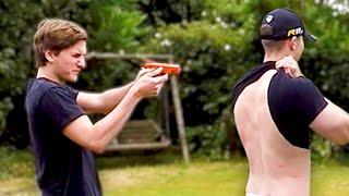getlinkyoutube.com-BB GUN STING PONG | Challenge Pete
