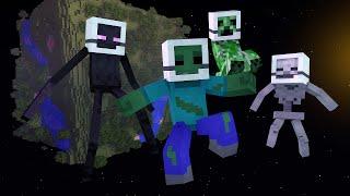 getlinkyoutube.com-Minecraft Escola Monstro #64 - Monstros No Espaço !! Monster School