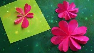 getlinkyoutube.com-Как Быстро Вырезать Сердечки Из Бумаги. Цветы, Бабочки на Открытки 8 Марта, День Рождения